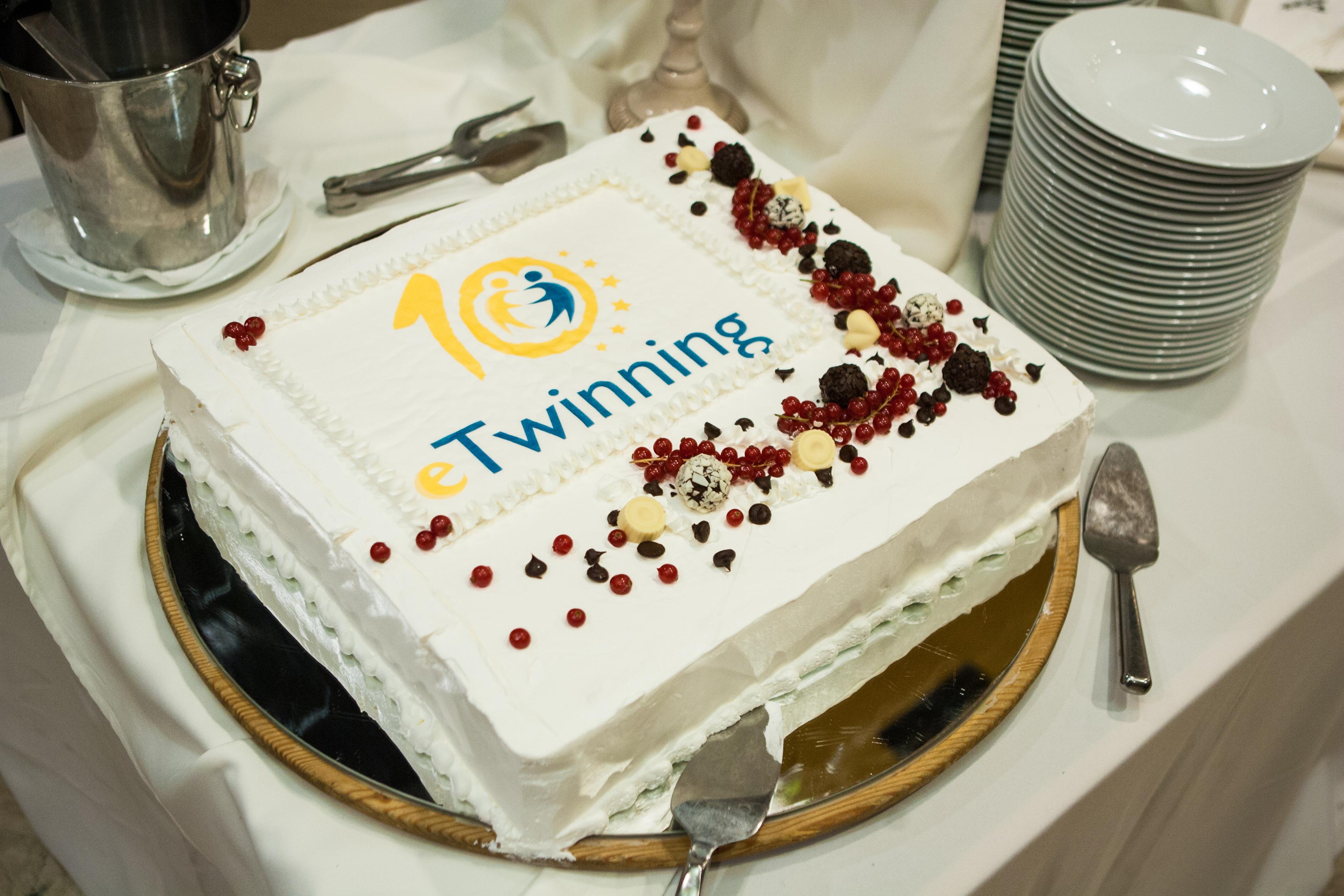 Torta za 10. godišnjicu eTwinninga