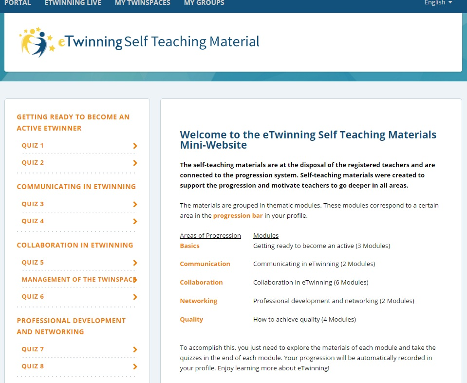 Portal eTwinning Self Teaching Material