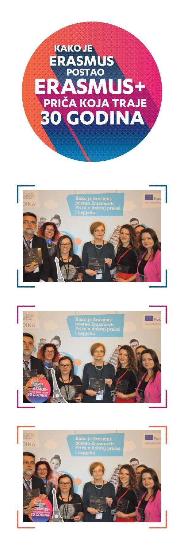 Logo 30 godina Erasmusa i dobitnici nacionalne nagrade COMET za 2017.