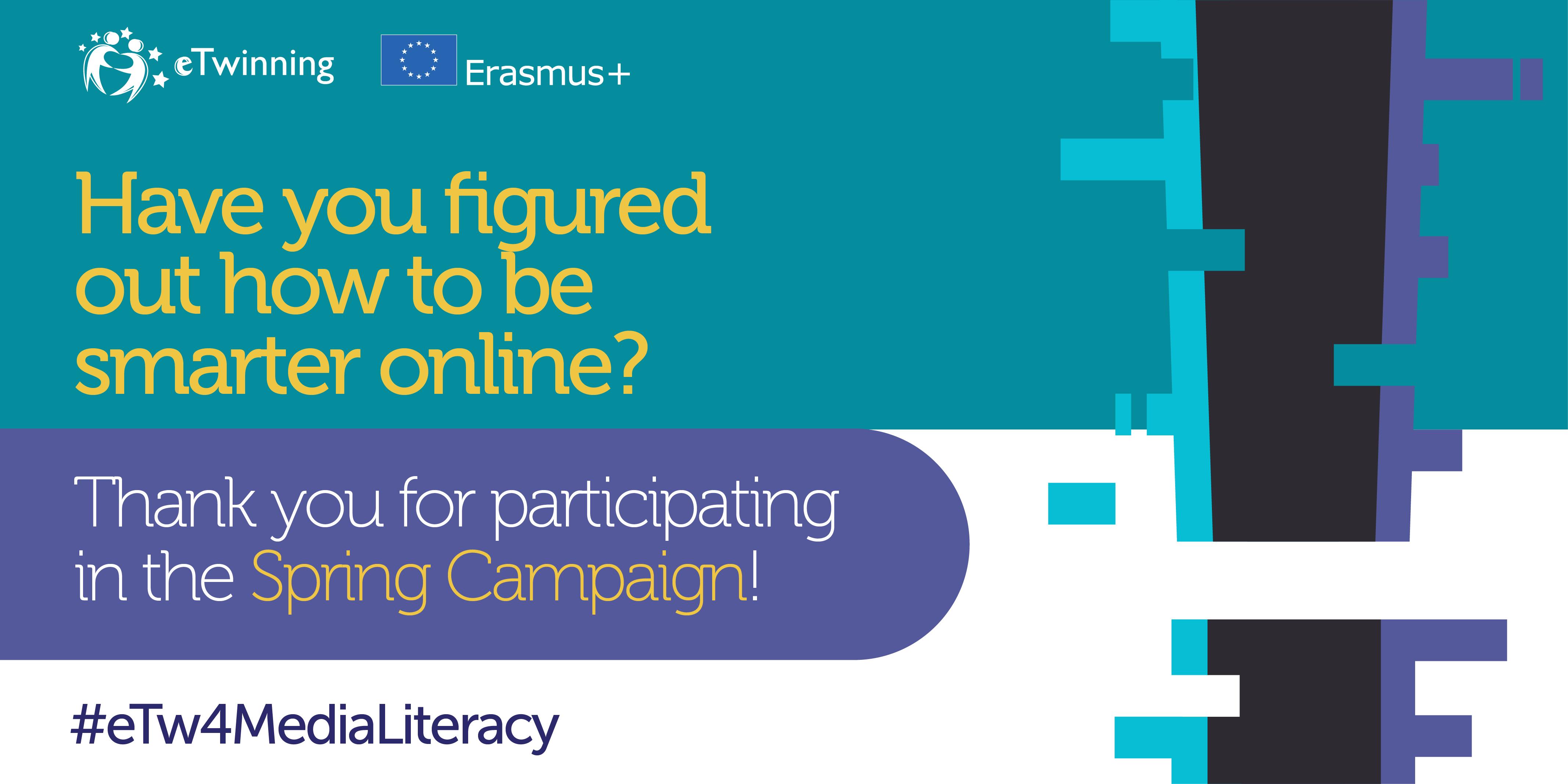 Kako biti pametan online - eTwinningova proljetna kampanja 2021. - Slika